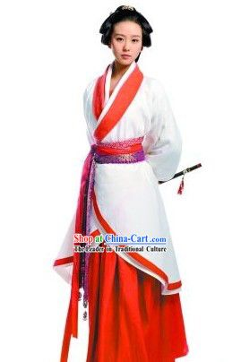 f6328a2b4c Ancient Chinese Swordswoman Hanfu Costume | Traditional Asian ...