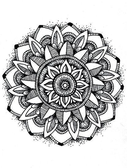Sunflower Mandala Ink Mandala Tattoos Sunflower Mandala