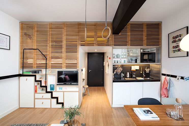 Decoracin de lofts: Mini loft moderno en Amsterdam