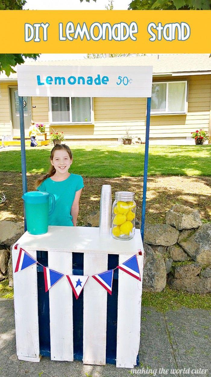 DIY Pallet Lemonade Stand at Making the World Cuter
