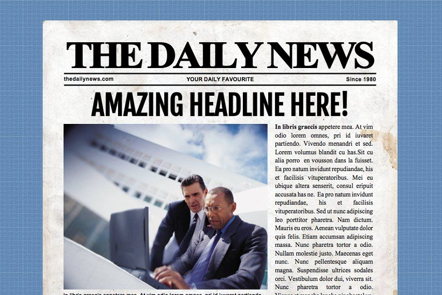 4 Page Microsoft Word Template Newspaper Template Word Template Newspaper Template Word