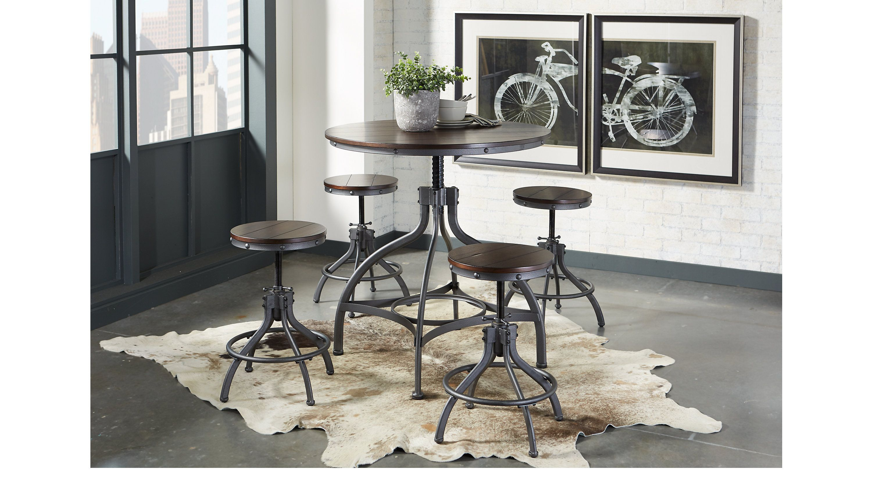 Industry Place Cherry 5 Pc Dining Set