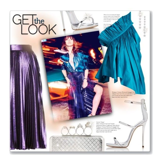 """""""Get The Metallic Look"""" by leanne-mcclean ❤ liked on Polyvore featuring Alexander McQueen, Giuseppe Zanotti, Gucci, Marques'Almeida and Elise Dray"""