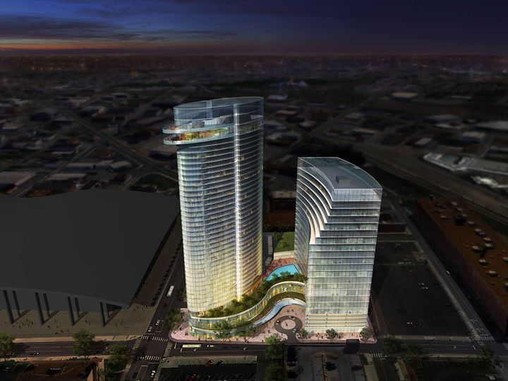 Jw Marriott Going In Just South Of The Convention Center Between Music City And Mins Station 35 Story 600 Room J W Hotel A