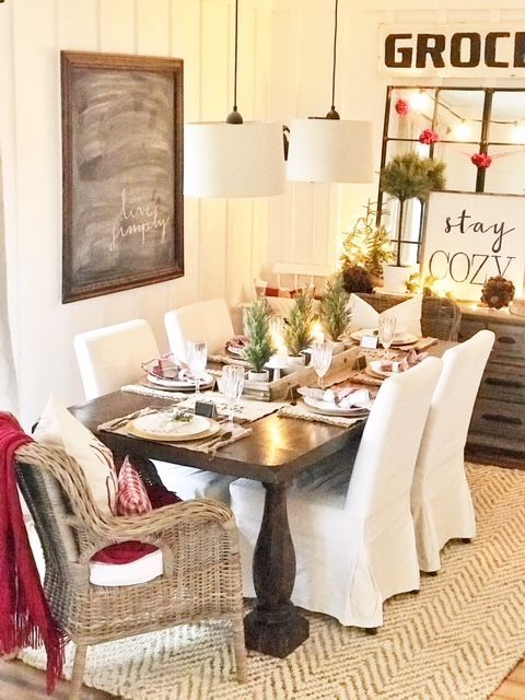 christmas dining room traditional christmas red and white rh pinterest com
