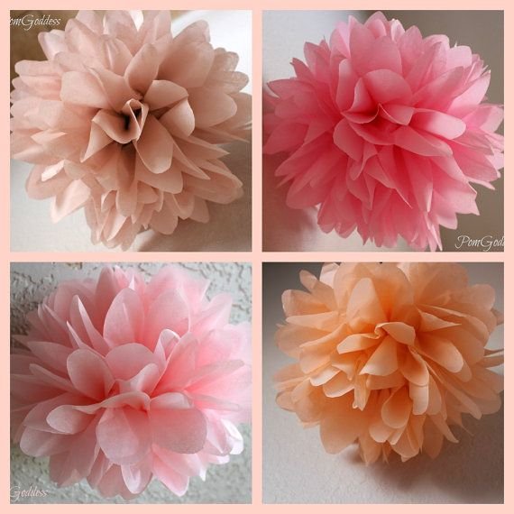 Items Similar To On Dess 5 Tissue Paper Pom Poms Wedding Decor Flowers Diy 1st Birthday Etsy