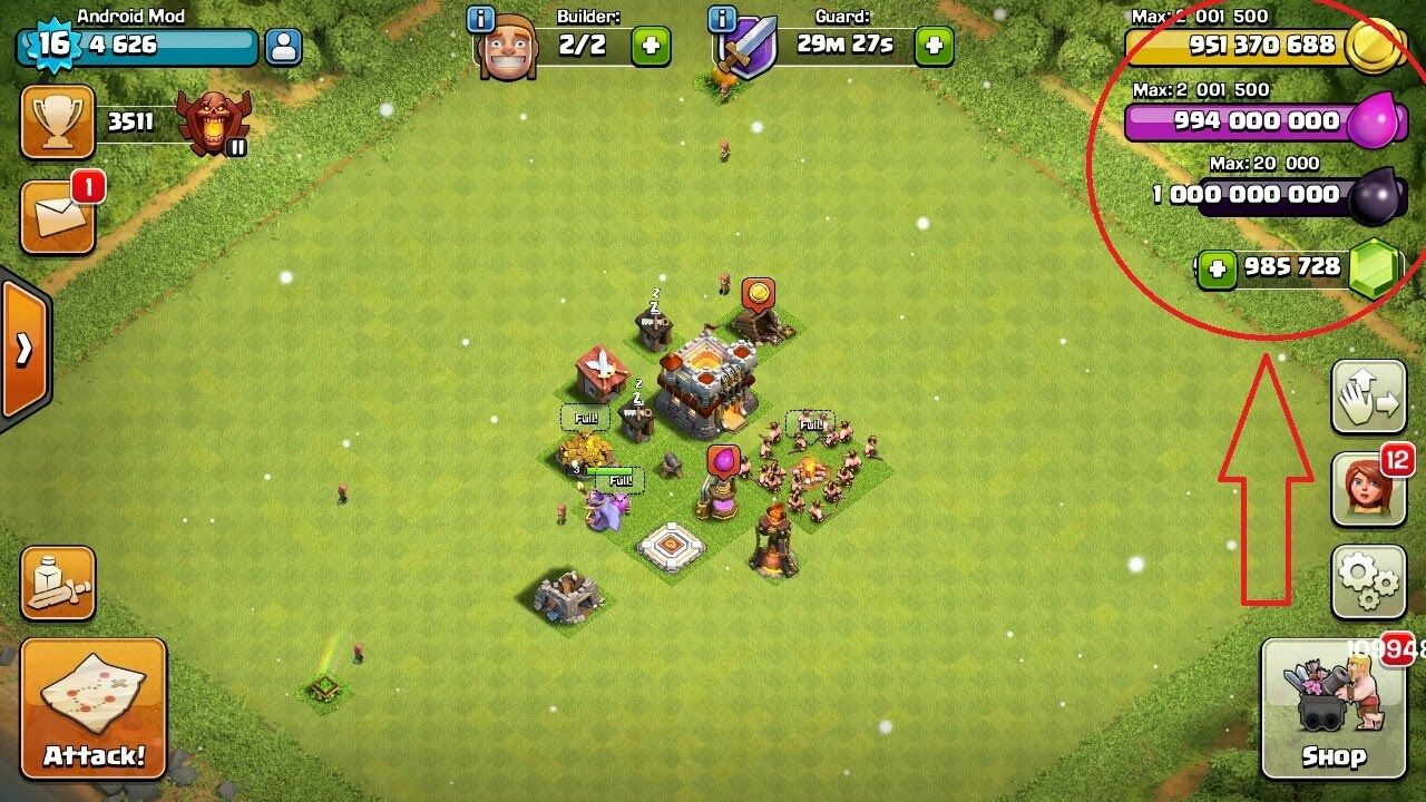 Clash of clans hack android 100 working download now in