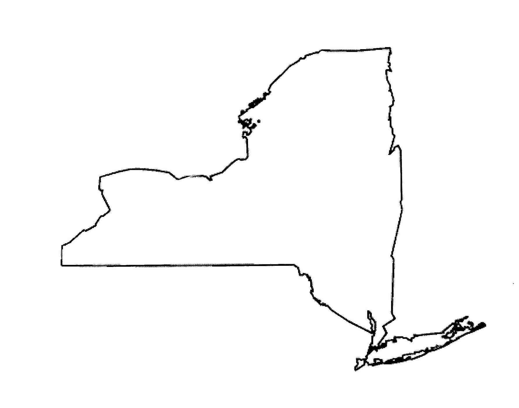 New York State Coloring Page Weeklyplanner Website New York
