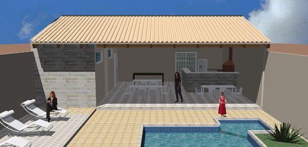 Ideia Para Area De Lazer Com Imagens Edicula Simples Area De