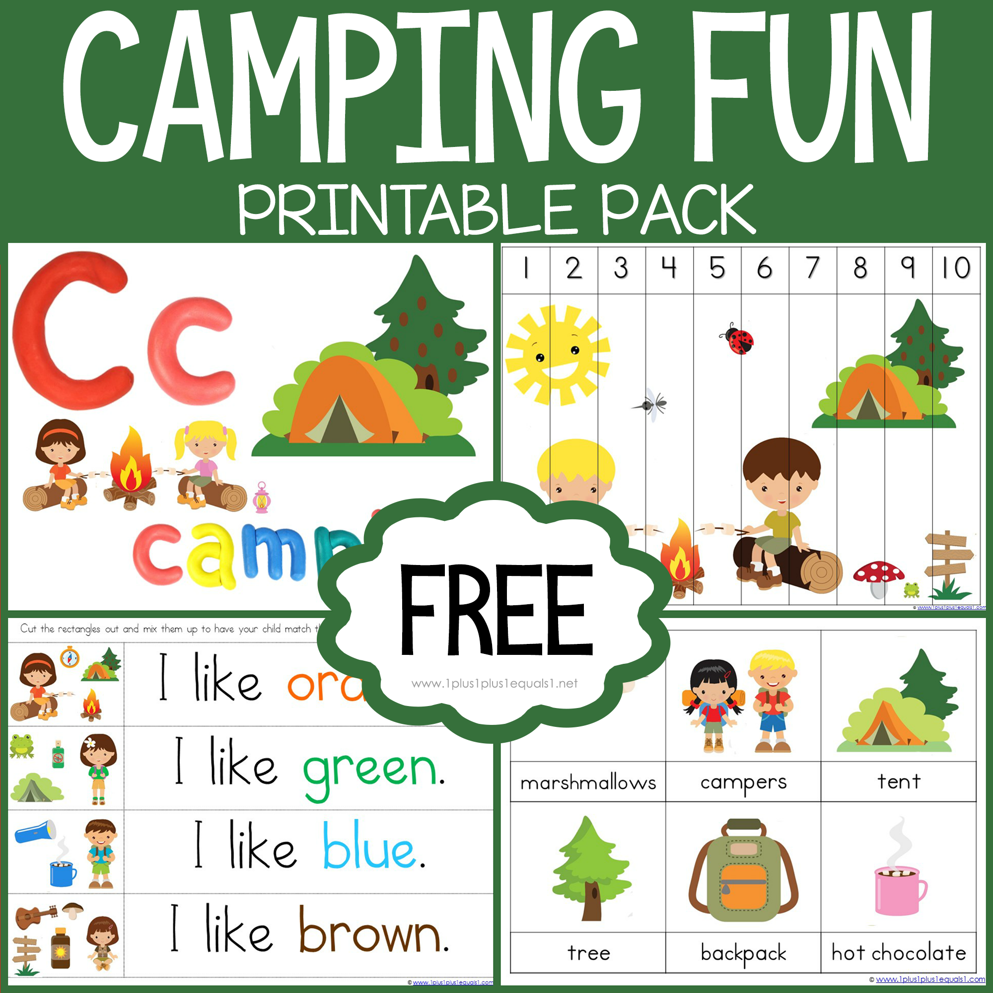 Camping Printables In