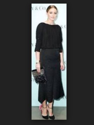 c8db4b84c50 Tibi-Black-Lia-Jacquard-Midi-Skirt -with-Olivia-Palermo-article-SZ-2-NWT-Ret-550