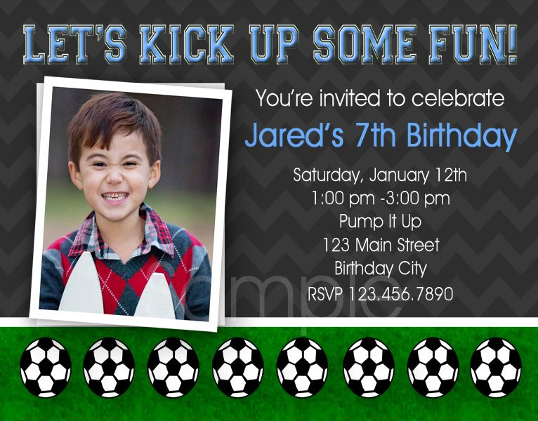 Printable Birthday Invitations Boys Soccer Party Invites Soccer