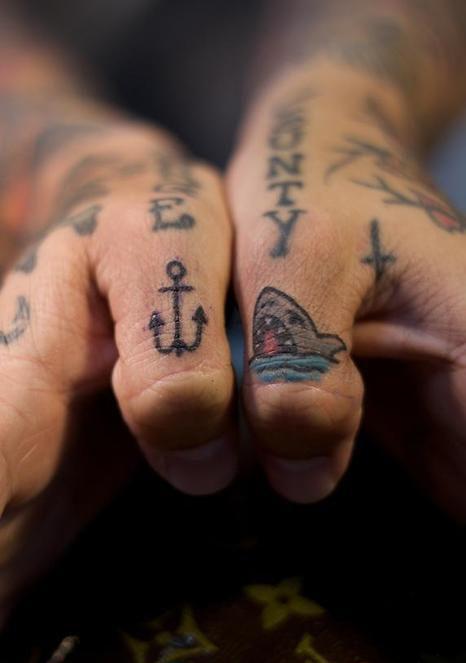 Anchor Tattoo Shark Tattoos Thumb Tattoos Finger Tattoo Designs