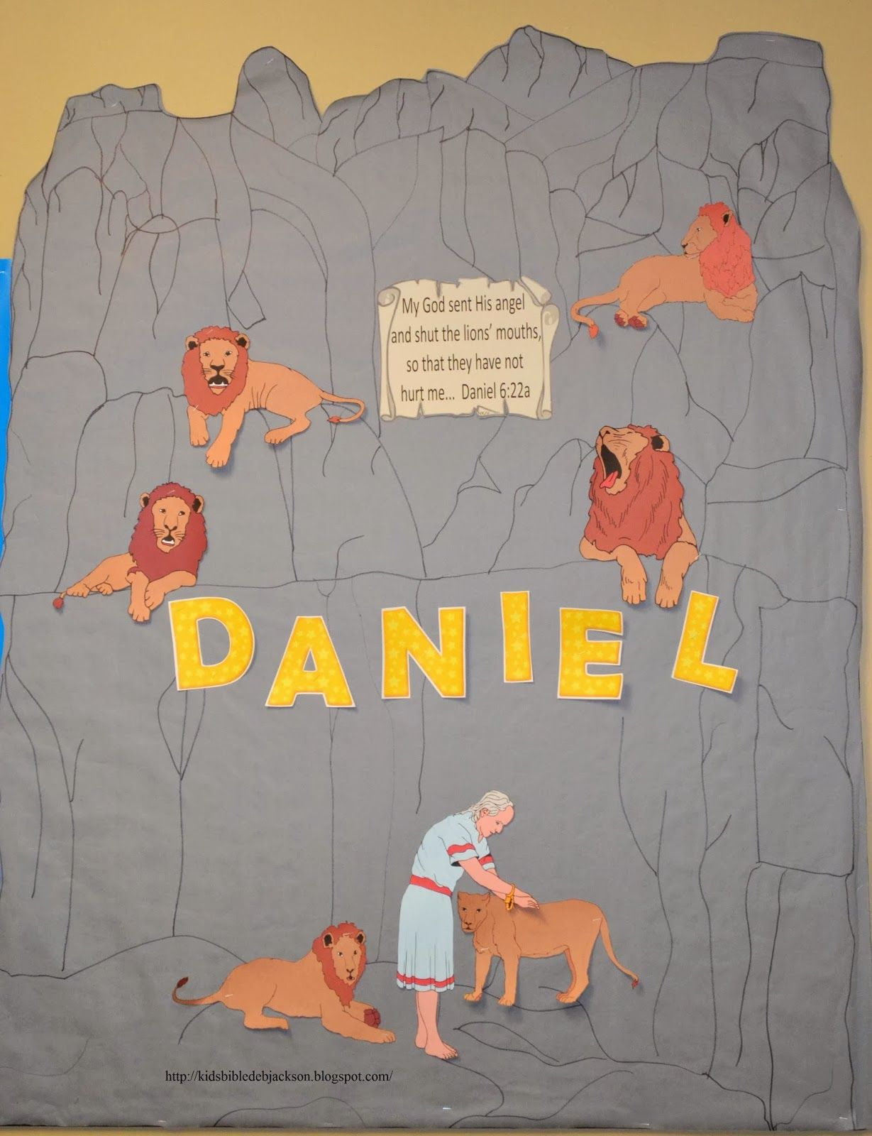 Daniel Bulletin Board with free printables | kids | Pinterest ...