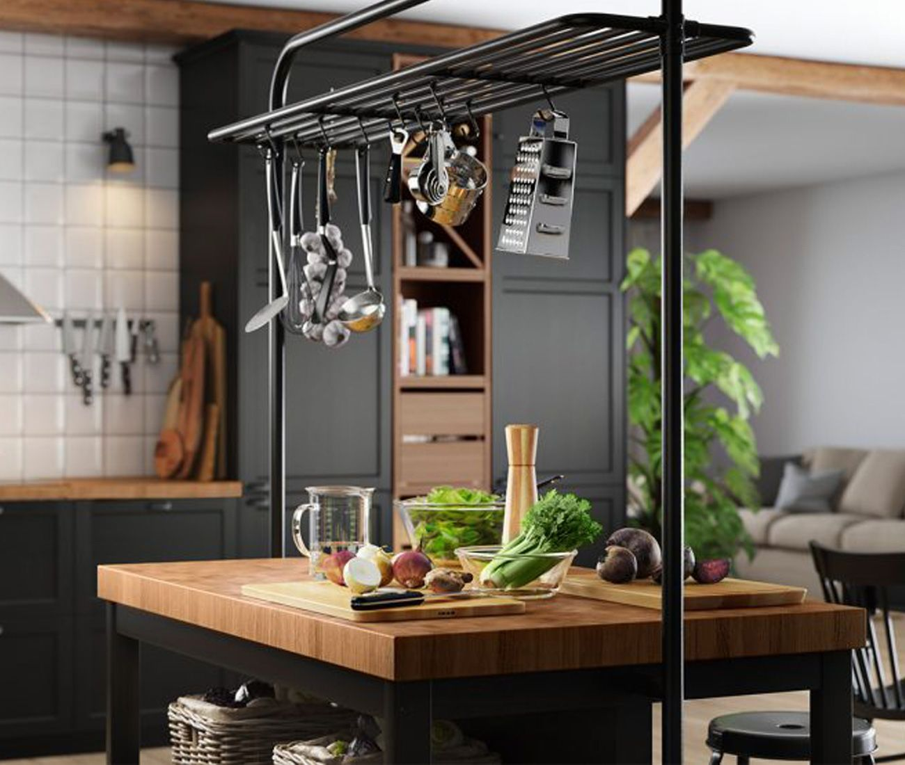 Industrial Kücheninsel Vadholma Kitchen Island By Ikea | Designlinesmag.com ...