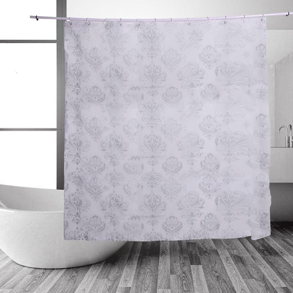 Pevaプラスチック風呂カーテン防水シャワーカーテン浴室製品でフック耐摩耗性インテリア Home