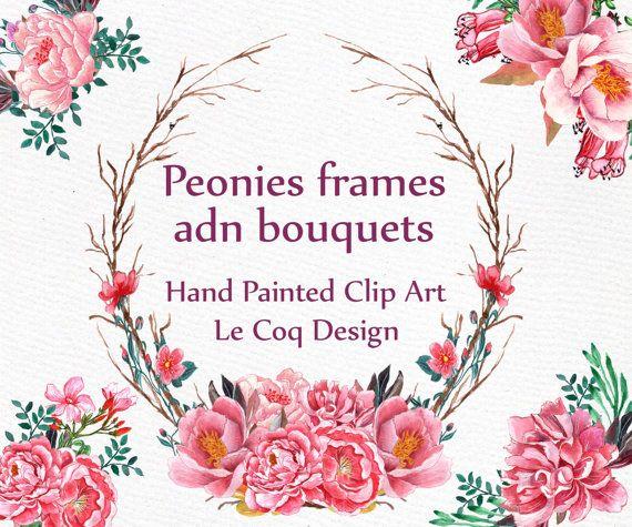 watercolor wreaths and bouquets clipart wreath clipart wedding rh pinterest com