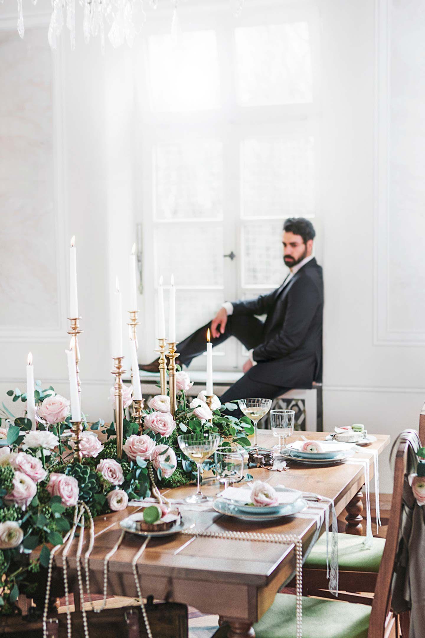 Glamouröse Nostalgie mit rosa Romantik - Hochzeitswahn