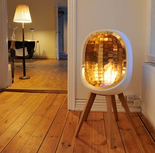 chimney-free indoor fireplace.