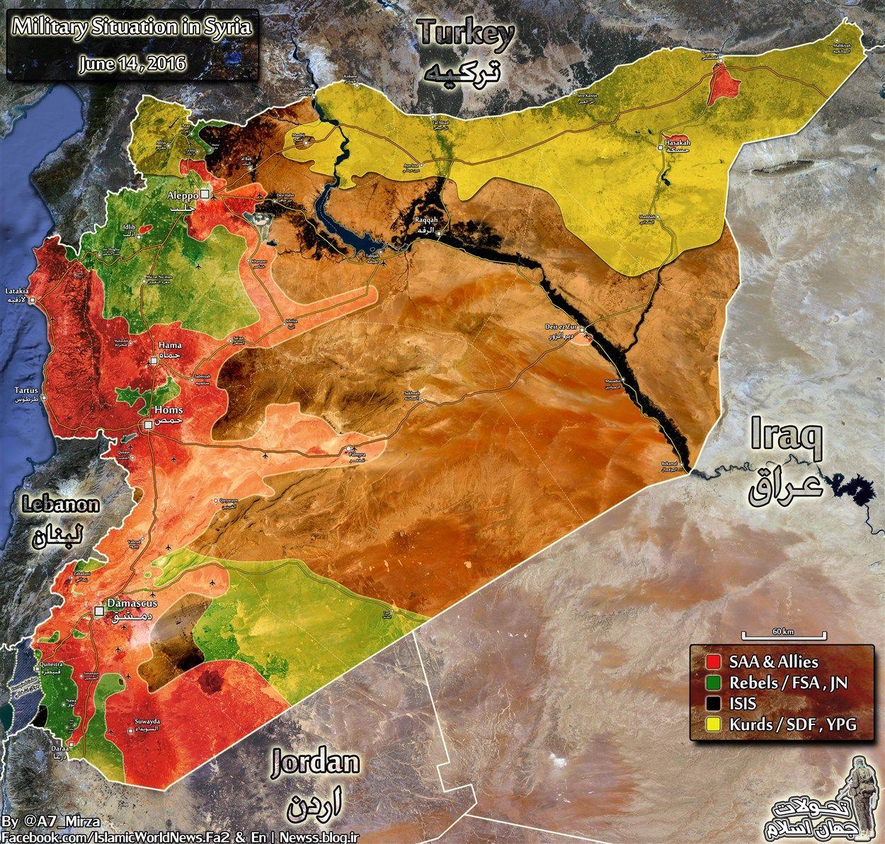 17 Haziran 2016 Suriye Haritas Harita