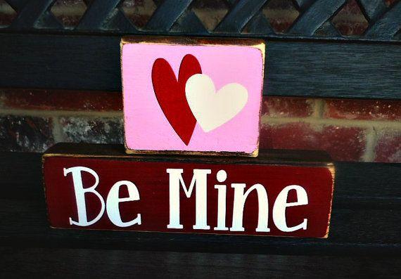 valentine's wood blocks