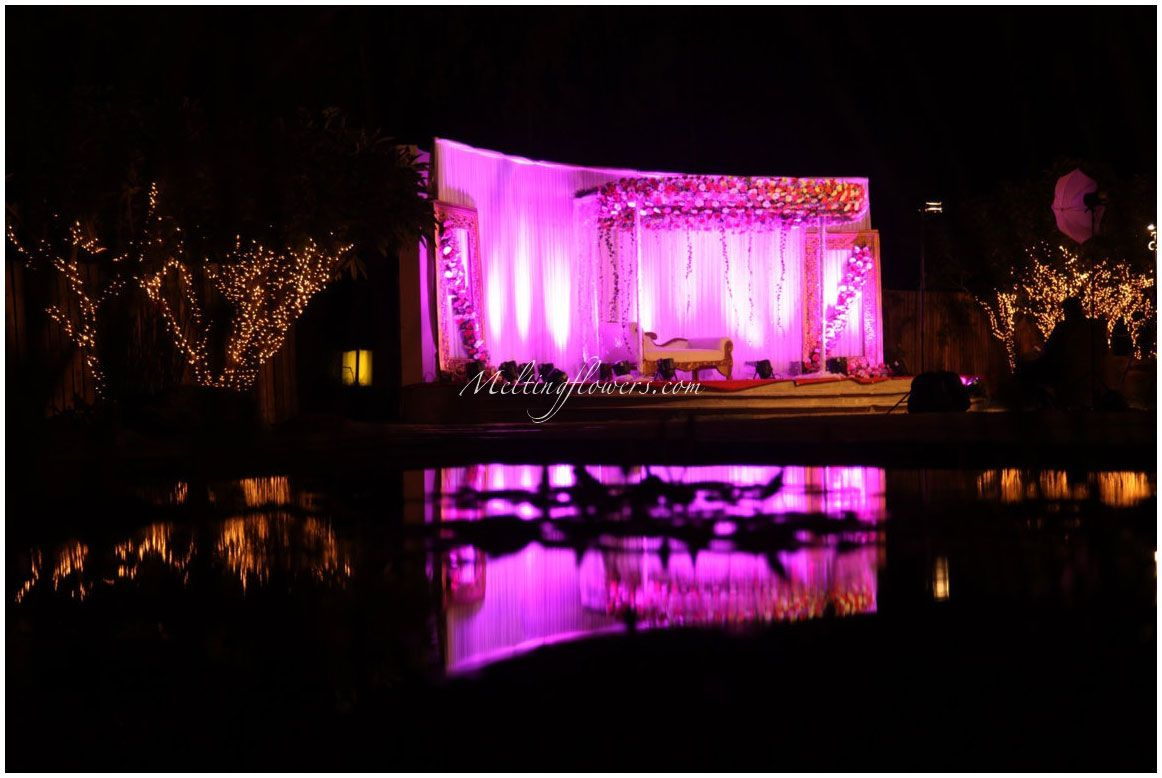 wedding stage decoration pics%0A Wedding Stage Decoration At TempleTree Leisure Bangalore