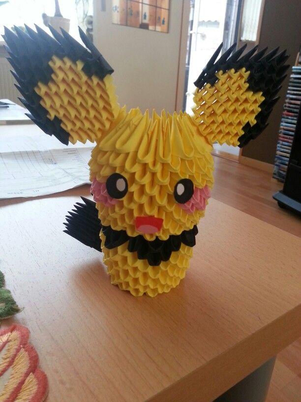 3d Origami Pichu