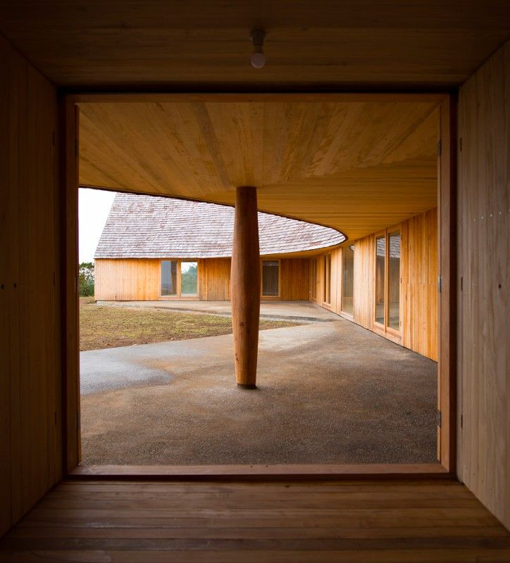 Just what is it that makes these houses so different, so appealing  is part of architecture Wood Pavilion Projects - In Domus 1020, Pezo von Ellrichshausen (Mauricio and Sofia), present two houses in Chile  Read an excerpt of the article