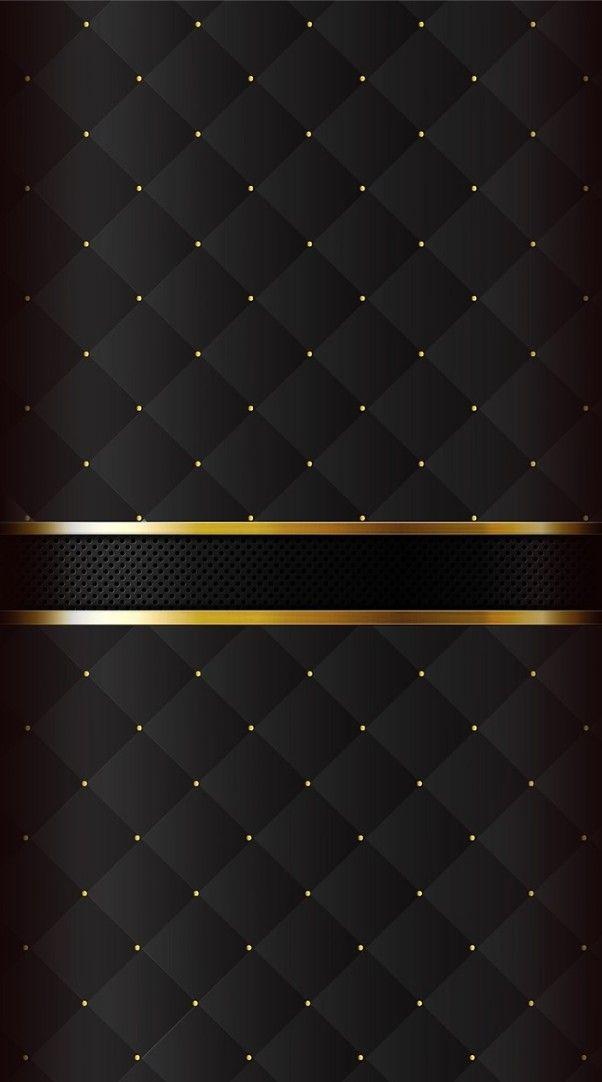 3d Metallic Wallpaper Black And Gold Backrounds Em 2019 Papeis De Parede