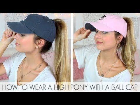 c2a0b3d7242be How to Wear a High Ponytail with a Ball Cap   Easy Baseball Hat Hairstyles  DIY   DIY Baseball Hat - YouTube