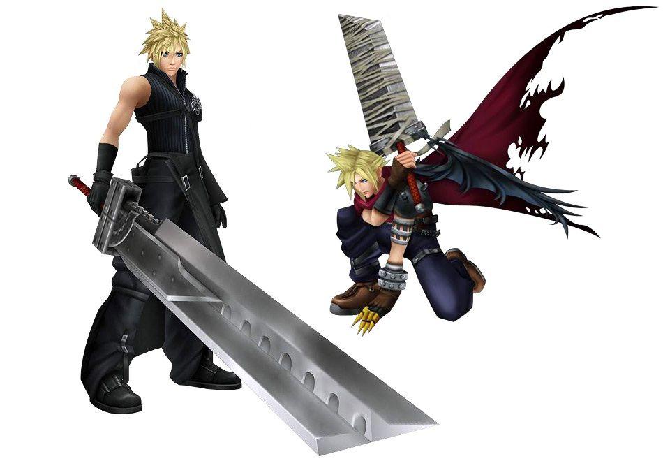 Final Fantasy VII FF7 KH SQUARE MINIMUM COLLECTION Cloud/&Sephiroth Figure set