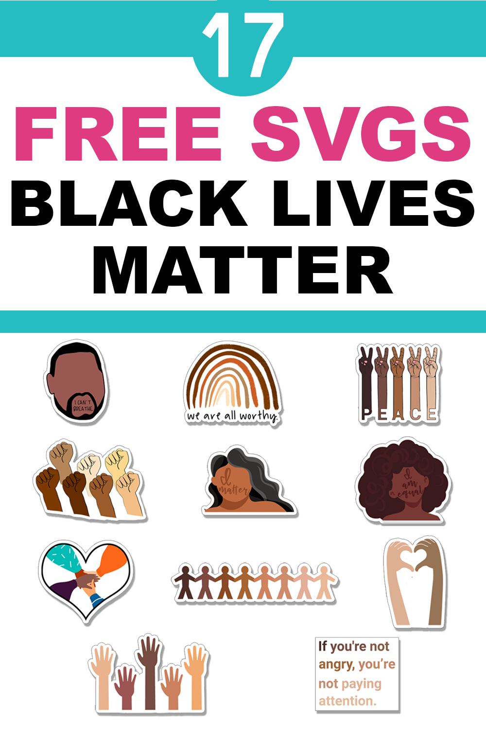 Free Black Lives Matter Svgs Silhouette Files In 2020 Black Lives Matter Black Lives Lives Matter