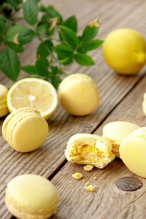 Macarons au citron - Empreinte Sucrée