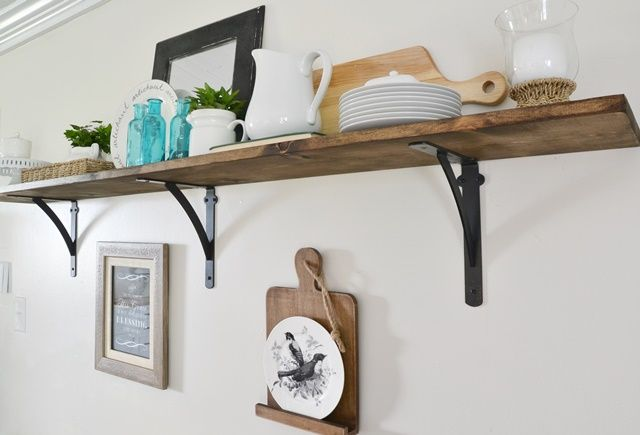 My New Open Kitchen Shelf (and Roman Numeral Print Coupon Code