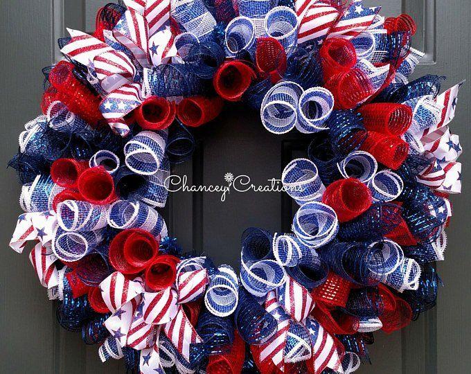 4th July Wreath - Patriotic Wreath - Fourth of July Wreath - American Flag Wreath - Veterans Day Wreath - Americana - Stars and Stripes