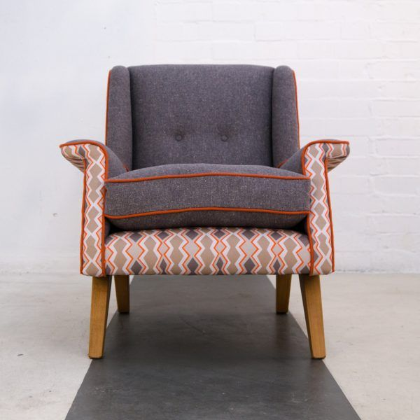 Superbe Frame U0026 Cover   Lucienne Upholstered Chair. Front View. Covered In Mzuri  Coral 1002