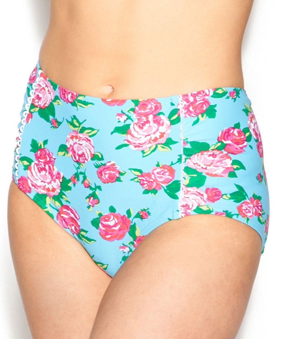 aa51742336 Look what I found on #zulily! Aqua Garden Rose High-Waist Bikini Bottoms by  Betsey Johnson #zulilyfinds