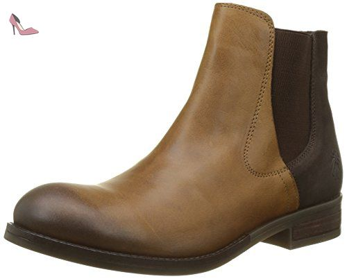 Fly London Alls076fly, Bottes Chelsea Femme, Marron (Camel/Chocolate), 39 EU - Chaussures fly london (*Partner-Link)