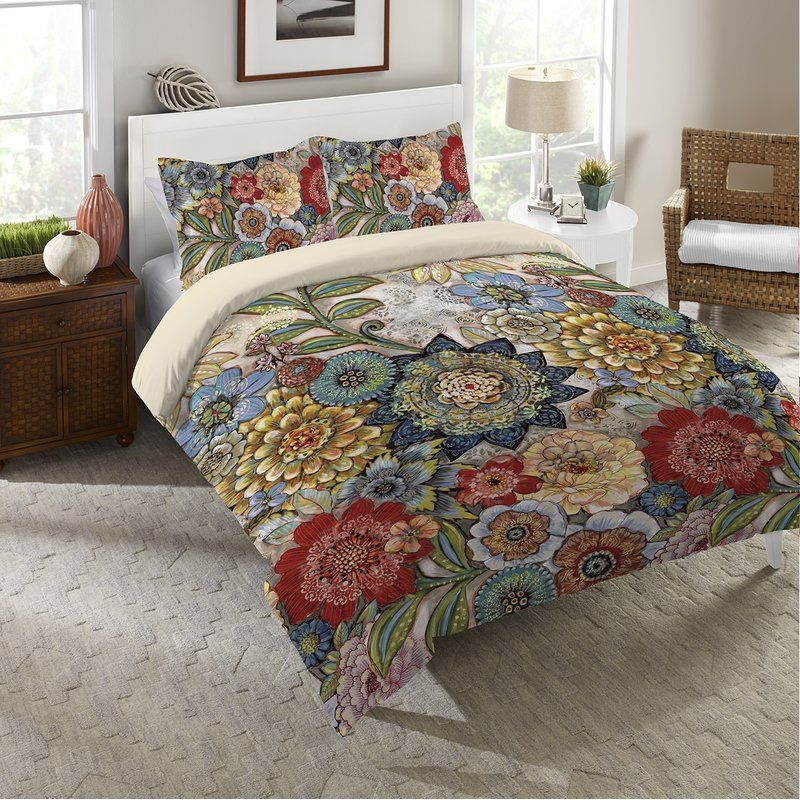 Haskell Boho Bouquet Single Duvet Cover Laural Home Single