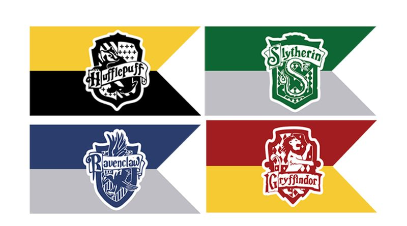 Free Printable Hogwart S House Flags Harry Potter Party Harry