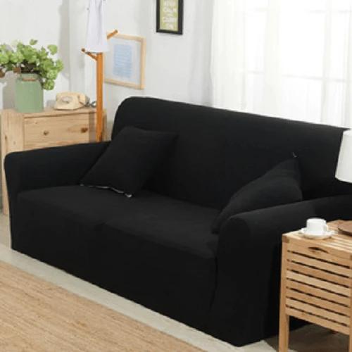 Black Color Decent Sofa Cover In 2020 Sofa Covers Three Seater Sofa Sofa