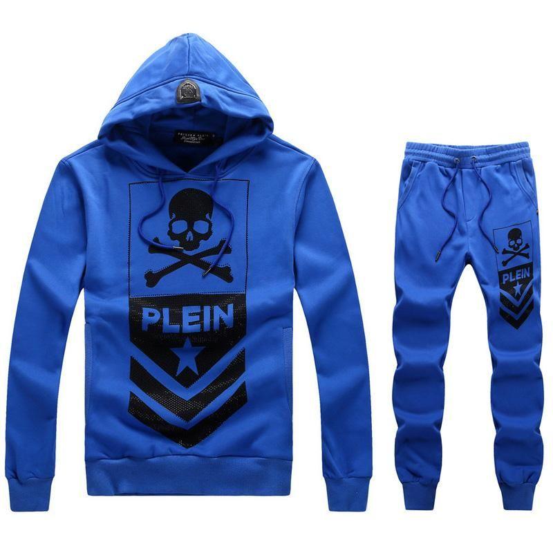 540a6247456c8 Replica Philipp Plein PP fashion sports brand men clothing set male  sportswear tracksuit set jacket pants