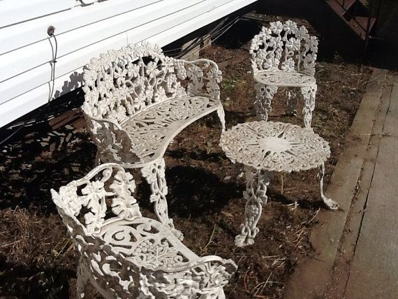 Antique Cast Iron Garden Furniture 500 Old House Front