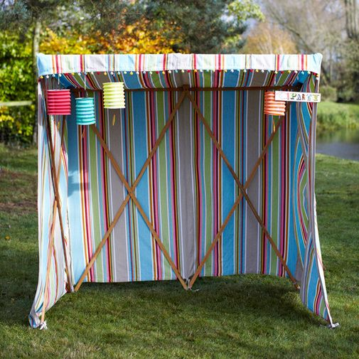 Striped Sun Canopy