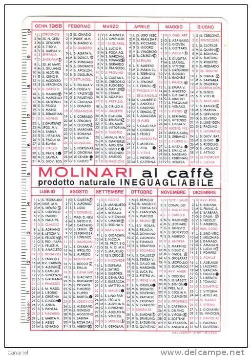 Calendario 1968.Calendario 1968 Molinari Extra Il Digestivo Moderno Numero