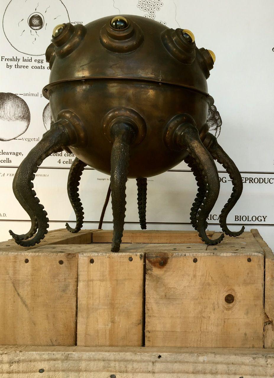 San francisco Steampunk octopus in the window