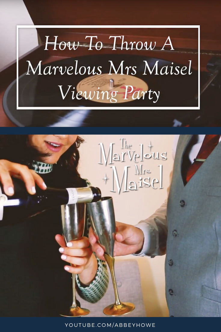 dbcbc8cd3fdd Invite your friends to a Marvelous Mrs. Maisel viewing party or a themed  cocktail party. This video gives you the inspiration to throw the best 1950s  style ...