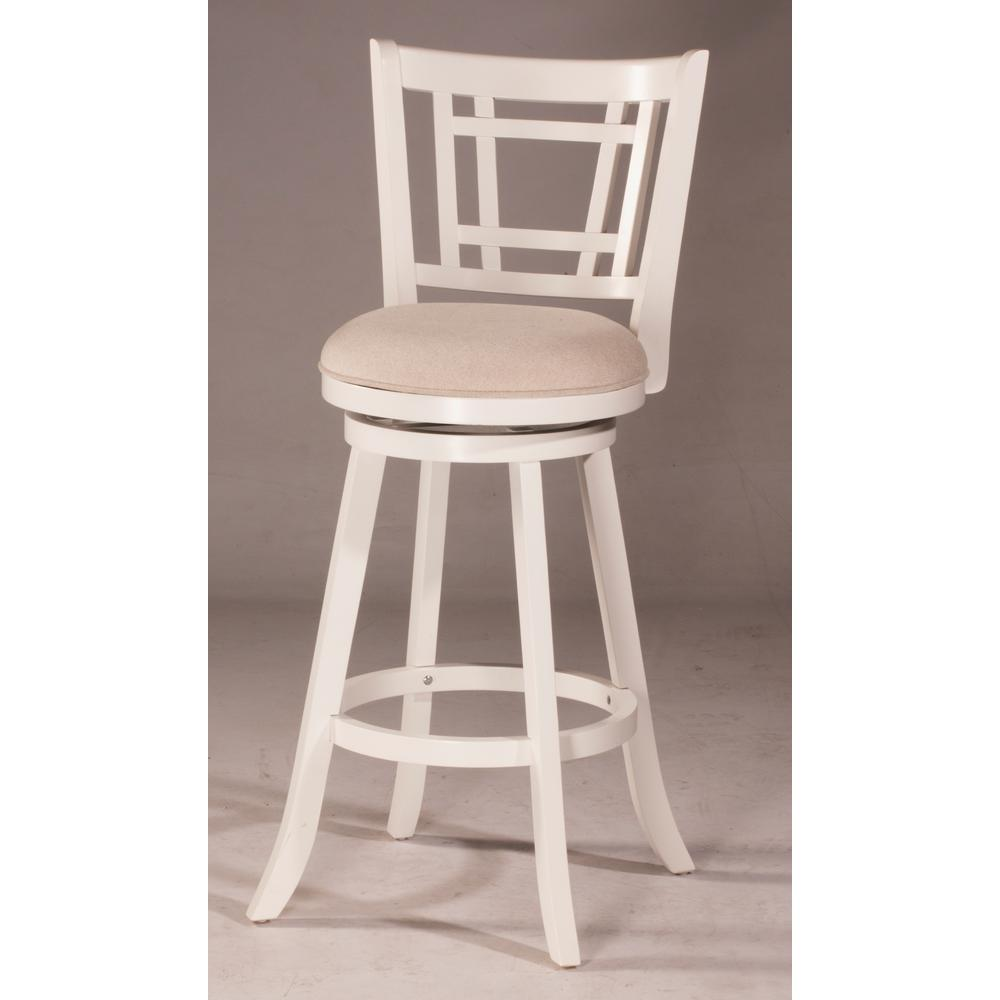 Hillsdale Furniture Fairfox White Swivel Counter Stool In 2019