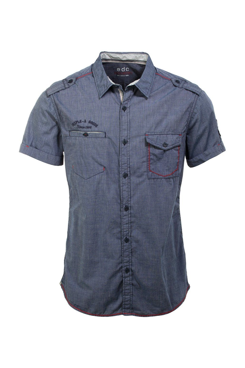 edc by ESPRIT Kurzarm Slim Fit - Camisa de manga corta para hombre   Amazon.es  Ropa y accesorios cfaff172b6