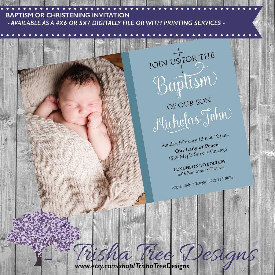 free online christening invitation making%0A Baptism Invitation  Baptism Invite  Christening Invitation  Christening  Invite  Dedication  Newborn Announcement